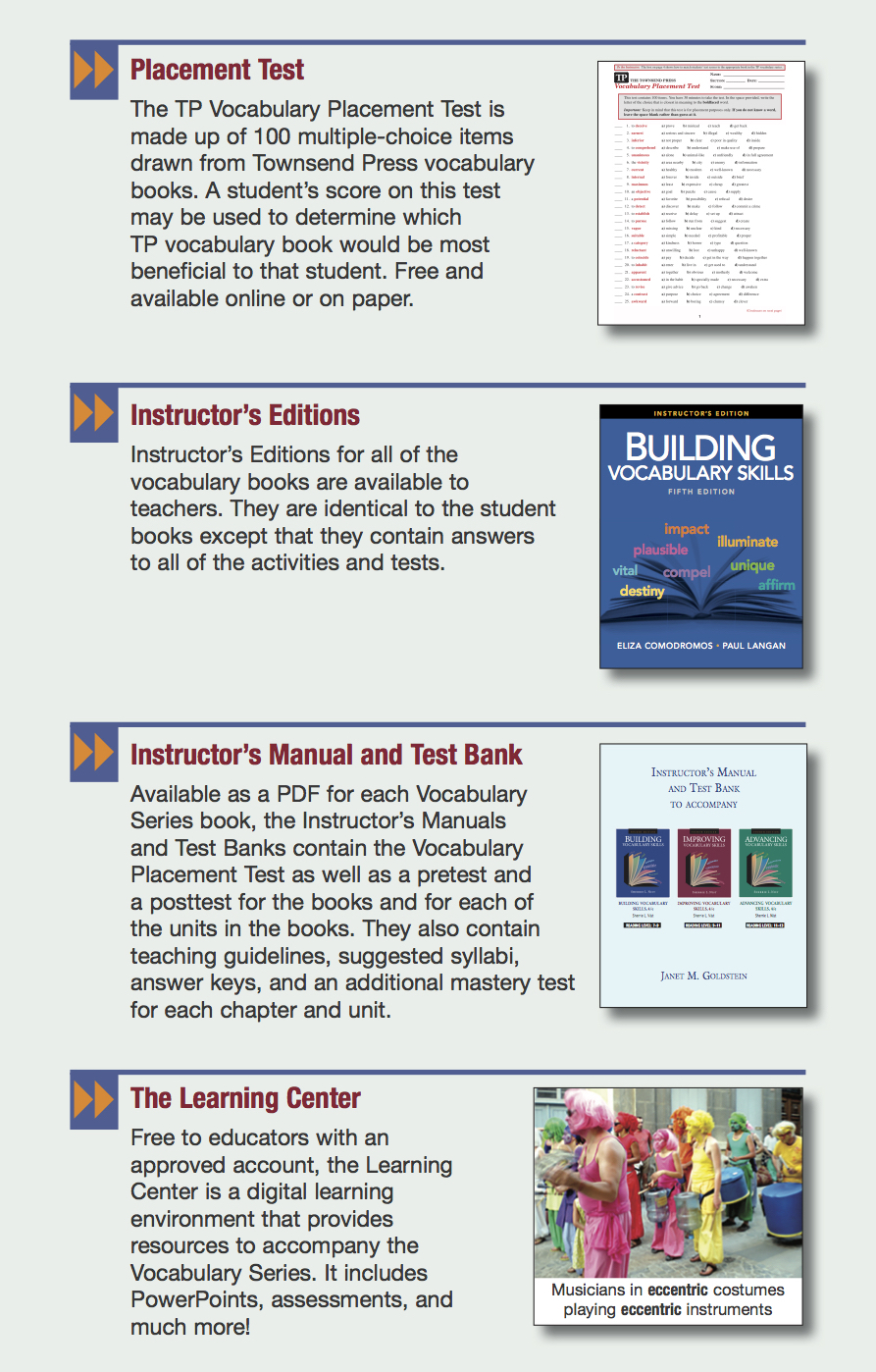 Building vocabulary skills 5 e with vocabulary plus for Construction vocabulary