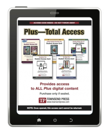 plus total access card e mailed townsend press. Black Bedroom Furniture Sets. Home Design Ideas
